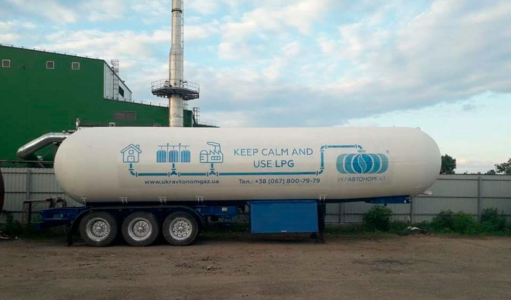 Цистерна для перевозки газа