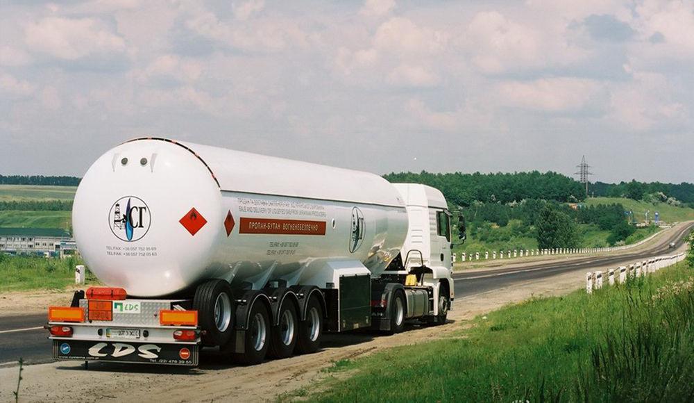 Перевозка сжиженного газа автотранспортом