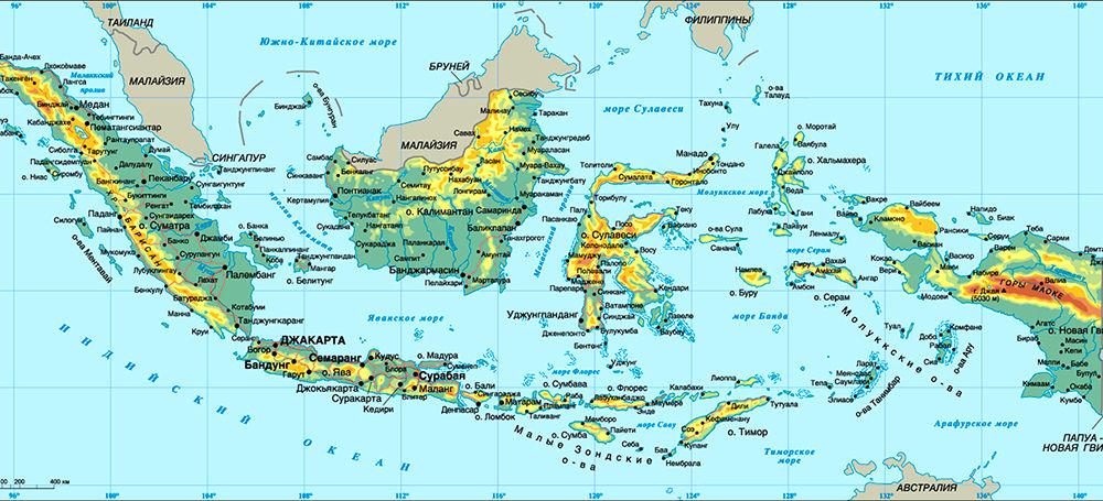 Расположение Индонезии