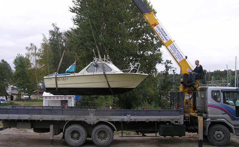 Разгрузка катера