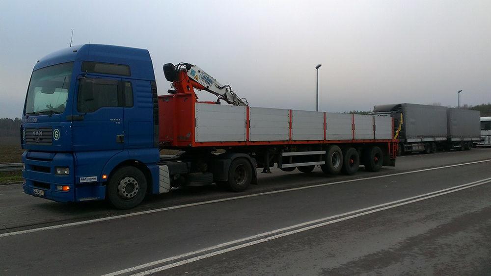 Транспортировка негабаритных стройматериалов