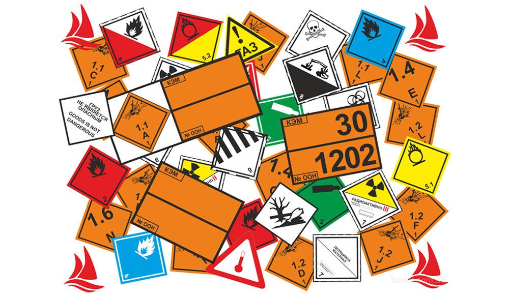 Какие знаки требуются при перевозке опасных грузов