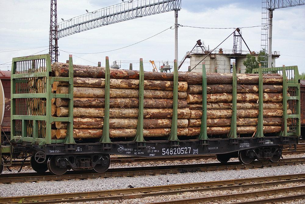 Отправка вагона с лесом