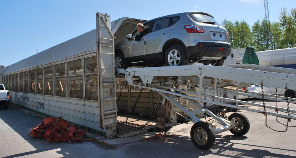 Перевозка авто в вагоне-сетке