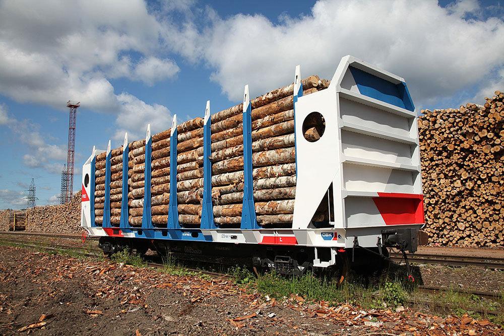 Вагон для перевозки леса